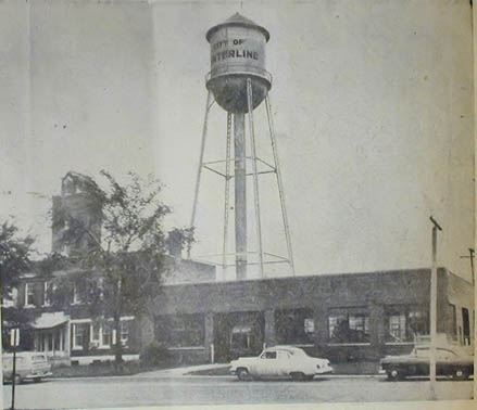 City Hall in the 1960s with Water Tower in Background