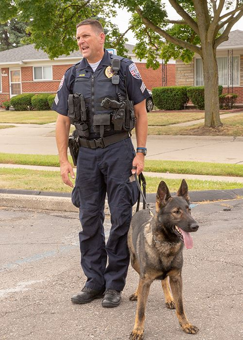 Sergeant David Allen and K-9 dog Murphy